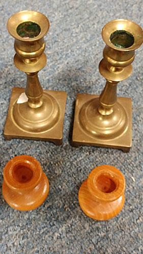 wooden and metal candle holders for your home decor available at Bahoukas in Havre de Grace