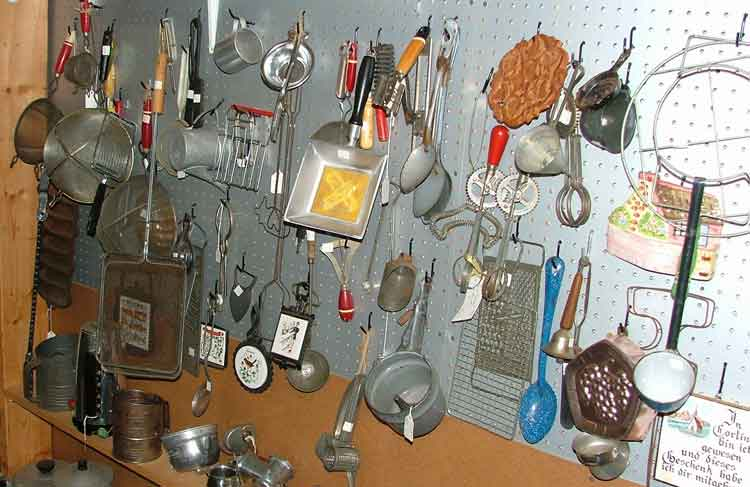 Unique collectible and useful kitchen items at Bahoukas Antiques