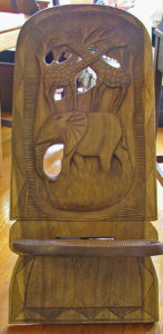 African birthing chair available at Bahoukas in Havre de Grace