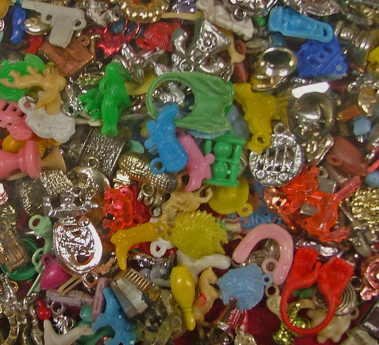 hundreds of bubblegum charms at Bahoukas in Havre de Grace