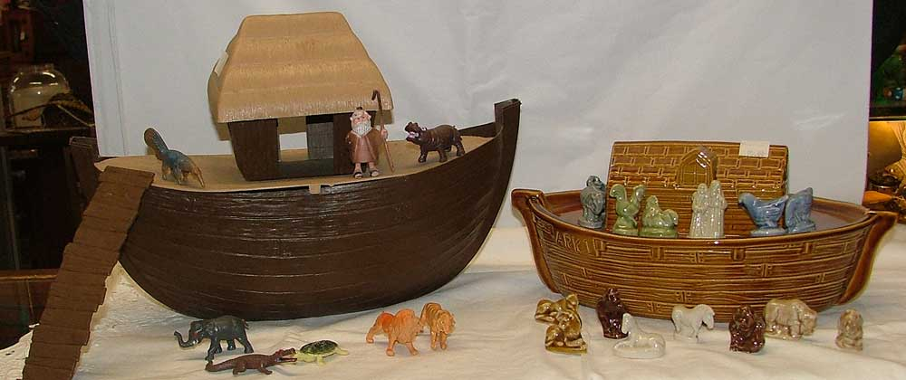 A Wade figures Noah's Ark and one by ARCO
