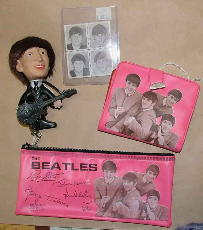 Beatles memorabilia at Bahoukas Antiques in Havre de Grace
