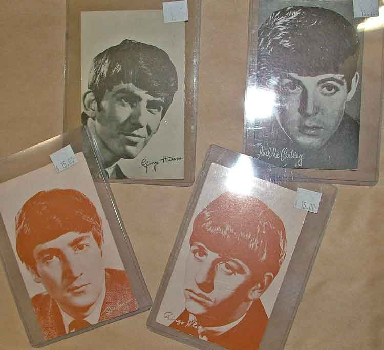Beatles trading cards at Bahoukas Antique Mall