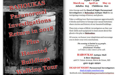 Ghost Tours Return to Bahoukas