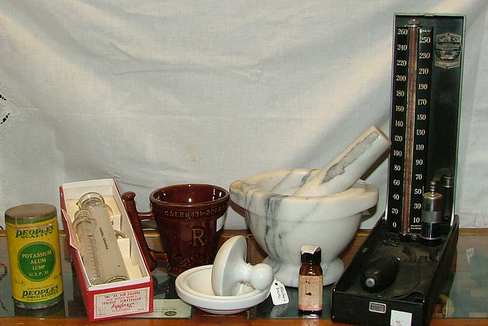 Unusual medical collectibles available at Bahoukas in Havre de Grace