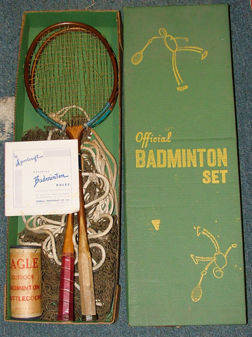 1950s Badminton set at Bahoukas Antiques