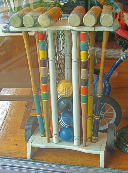Beautiful Croquet Set - wood - at Bahoukas