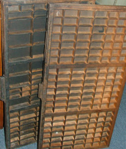 typesetting drawers