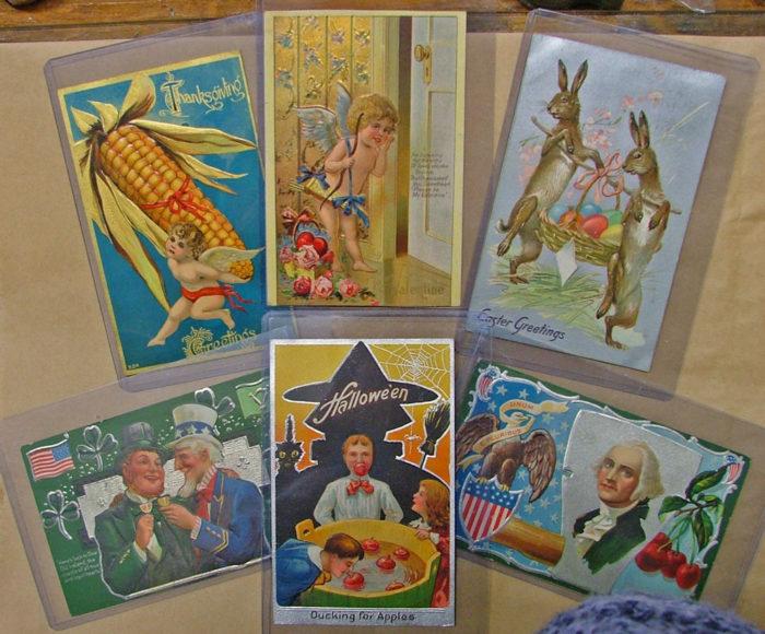 Beautiful Vintage Postcards at Bahoukas Antique Mall in Havre de Grace