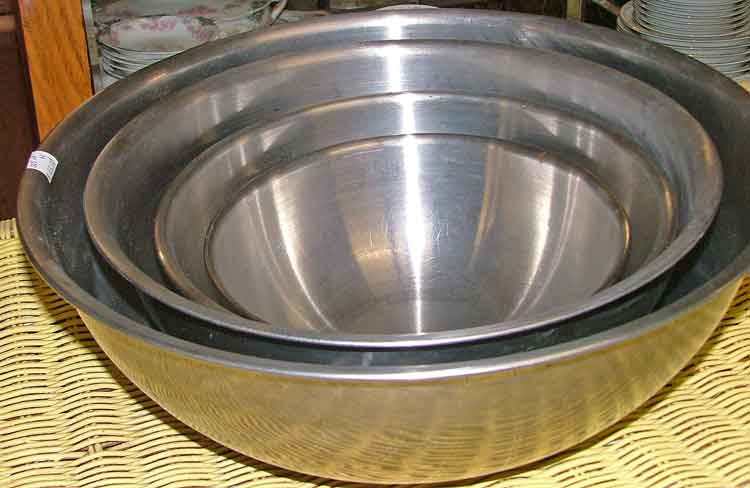 stainless steel bowls at Bahoukas Antiques