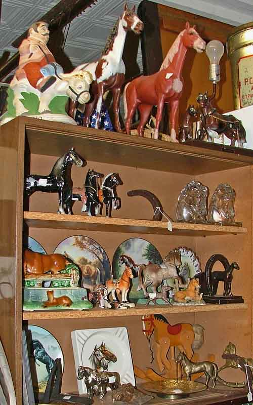 horse collectibles and figures at Bahoukas Antique Mall