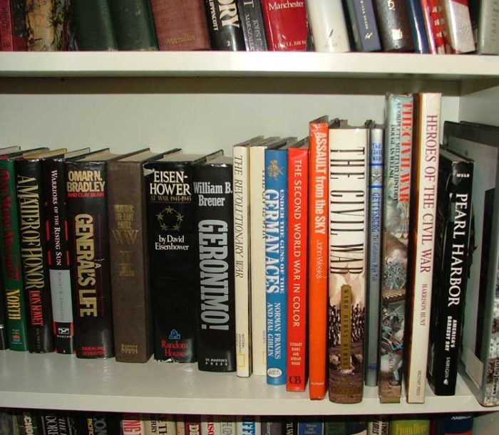 Military books and more at Bahoukas Antique Mall