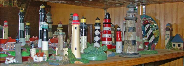 Collectible Lighthouses at Bahoukas Antique Mall