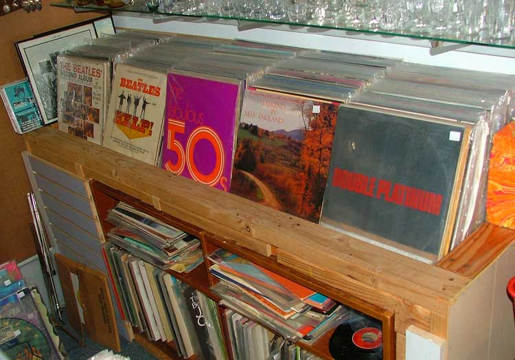 Summertime Music - huge collection of record albums at Bahoukas in Havre de Grace
