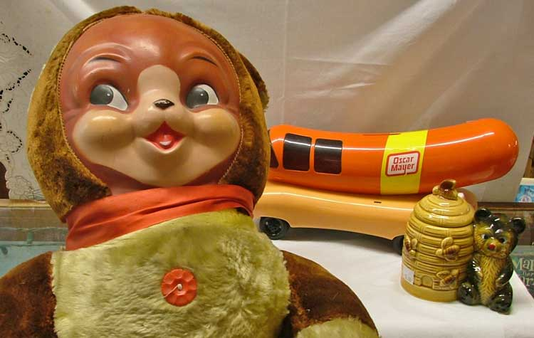 hot dog month - Oscar Meyer Weiner Mobile, Big Teddy Bear, Bear Honey Pot