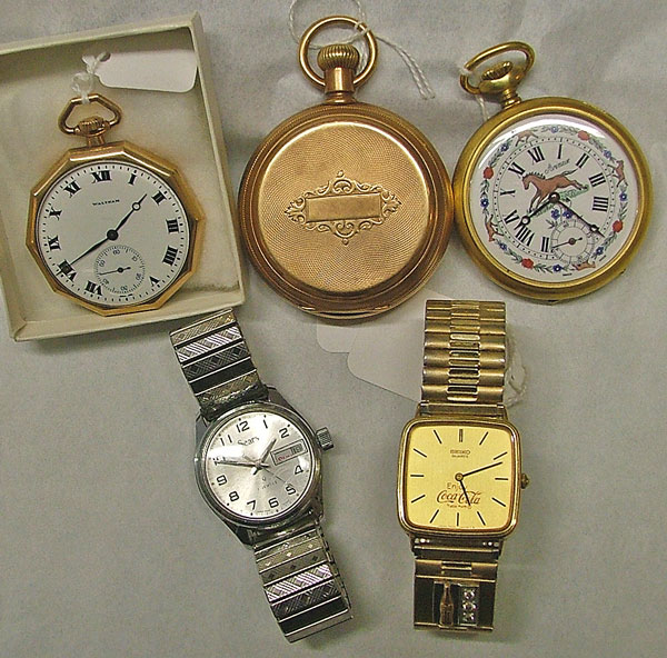 beautiful pocket watches and wristwatches make a great gift for Father-in-Law Day - available at Bahoukas Antiques in Havre de Grace, MD