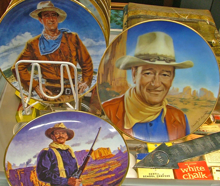 John Wayne collectible plates and more at Bahoukas to Celebrate National Day of the Cowboy