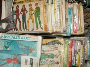 sewing patterns from 60s at Bahoukas in Havre de Grace