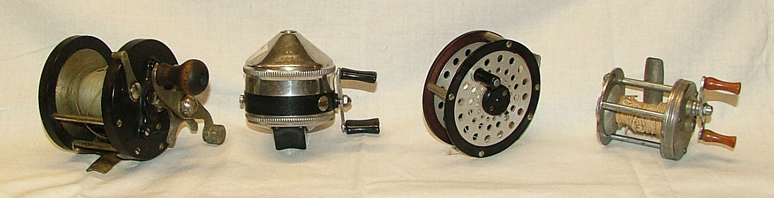 1940s-1960s collectible fishing reels