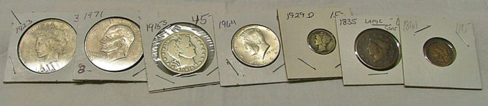collectible coins for numismatics at Bahoukas Antique Mall