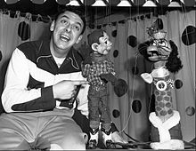 Buffalo Bob with Howdy Doody and Flub-a-Dub