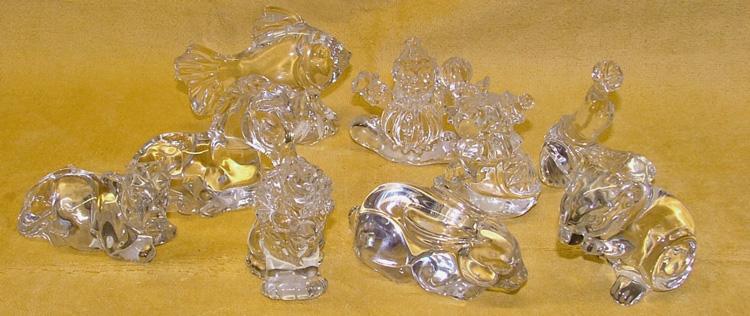 miniatures - Princess House lead crystal sets