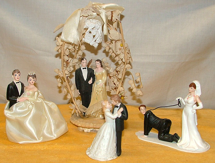 fun and funny collectible wedding toppers at Bahoukas in Havre de Grace