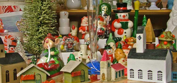 Christmas Decorations at Bahoukas Antique Mall in Havre de Grace
