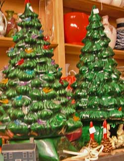 Need a table top Christmas Tree that doesn't need water - visit Bahoukas in Havre de Grace