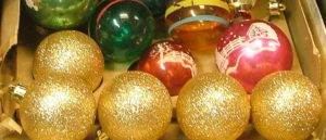 Christmas Balls in all shapes and sizes - vintage - at Bahoukas Antique Mall in Havre de Grace