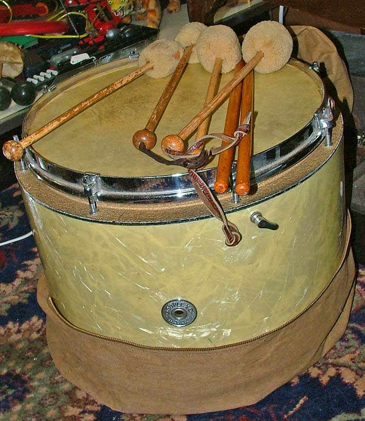 Marching Snare Drum from early 1940s at Bahoukas Antiques in Havre de Grace