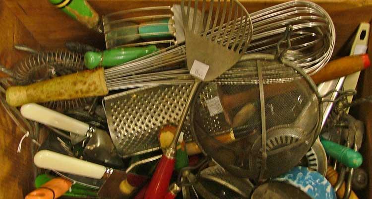 Kitchen items at Bahoukas in Havre de Grace