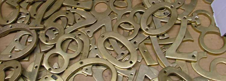 box of metal house numbers are great for crafts, too