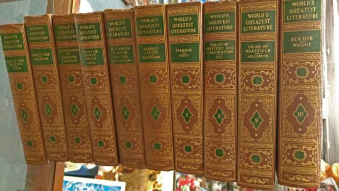 20 volume set of World's Greatest Literature by Spencer Press available at Bahoukas Antique Mall in Havre de Grace
