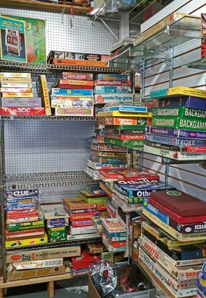 Erector sets, charades, learning games, and more board games at Bahoukas in Havre de Grace