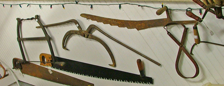 A variety of collectible, and useful, hand saws available at Bahoukas Antique Mall in Havre de Grace