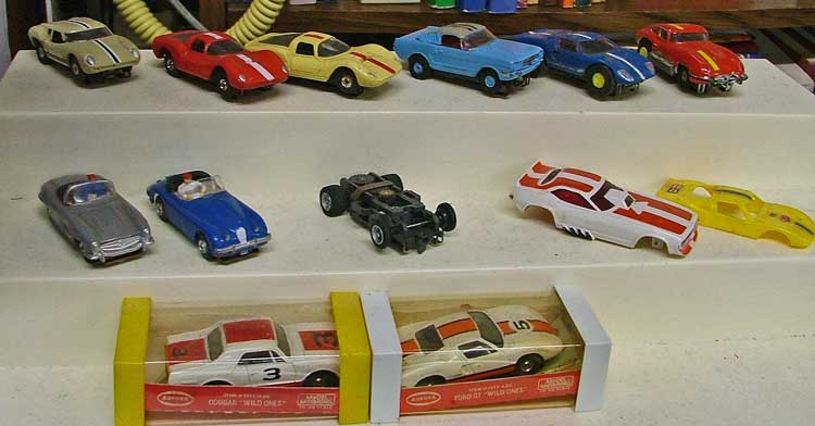1960s collectible AFX Aurora Slot Cars at Bahoukas Antique Mall in Havre de Grace