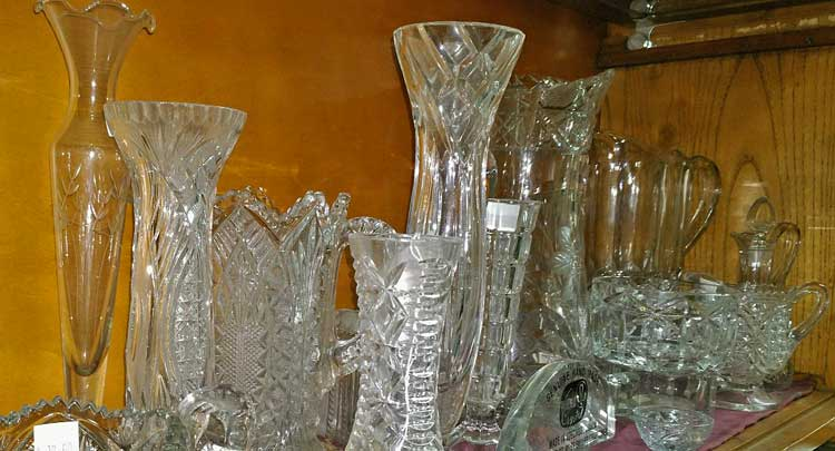 cut glass and crystal at Bahoukas in Havre de Grace