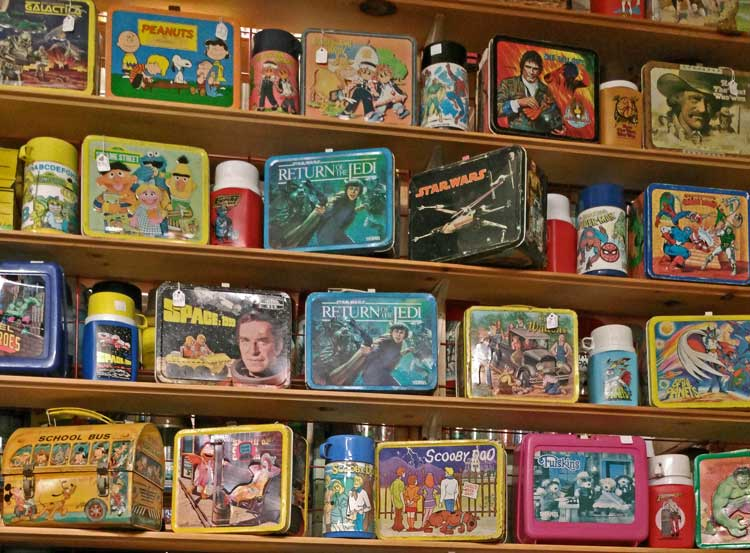 character lunch boxes offer something for nearly everyone at Bahoukas
