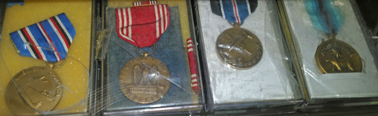 U.S. Army Medals in the military section at Bahoukas in Havre de Grace, MD