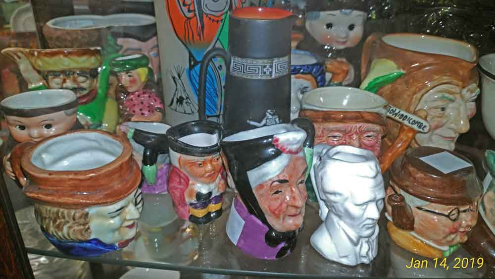 Toby Jugs and Character Mugs at Bahoukas in Havre de Grace