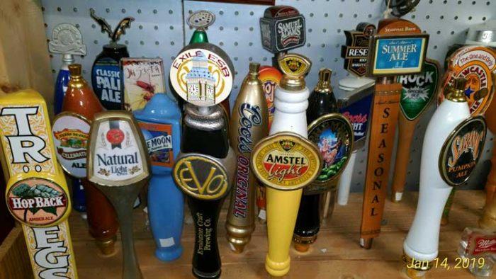 huge collection of beer taps at Bahoukas Beer MuZeum in Havre de Grace, MD