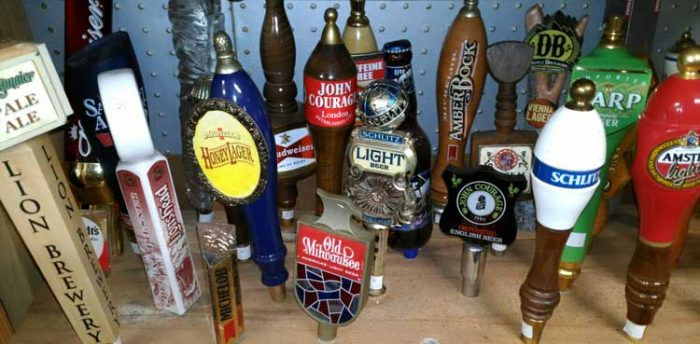 Beer taps on tap at Bahoukas Beer MuZeum in Havre de Grace, MD