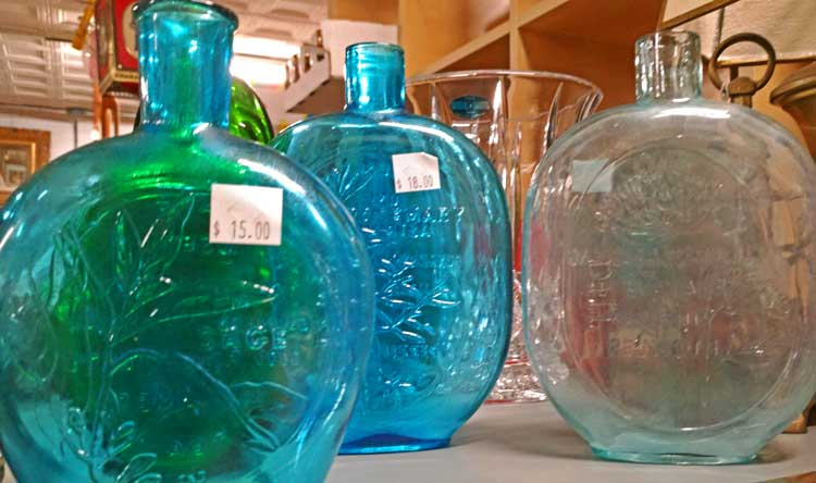 Wheaton Glass bottles available at Bahoukas in Havre de Grace, MD