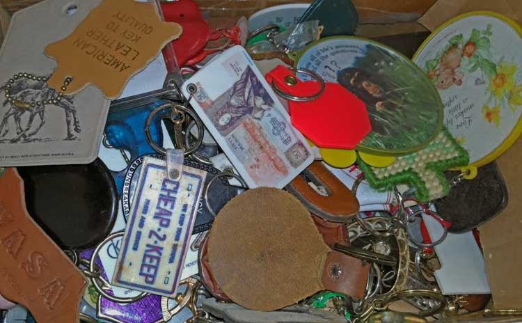 always fun to rummage through a box of key fobs to see what you might find. Bahoukas in Havre de Grace