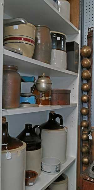 very collectible jugs, crocks, bowls and more at Bahoukas