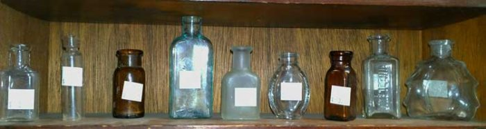 tiny bottles are great for creating your very personal tiny collection - at Bahoukas in Havre de Grace