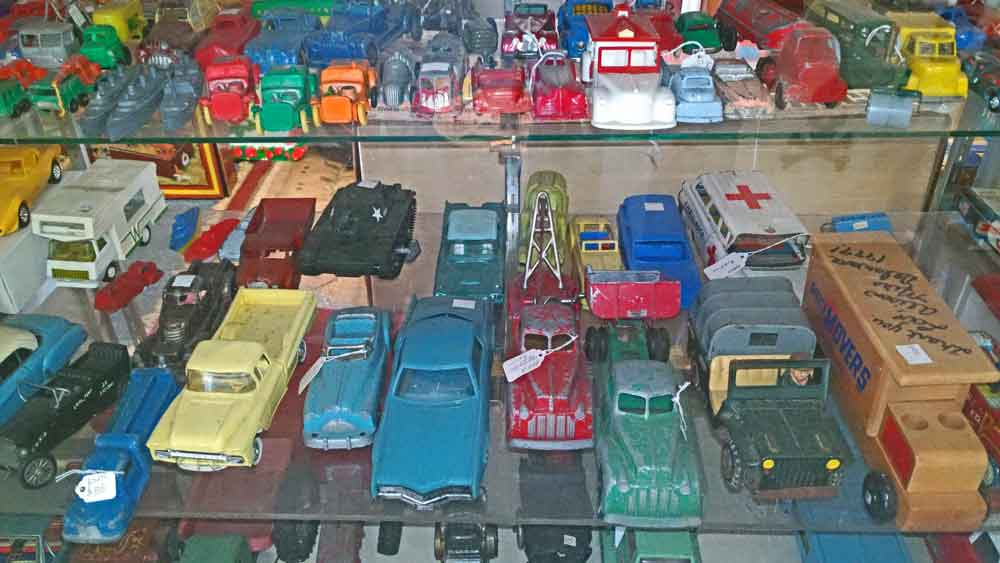 pressed steel and die-cast collectible miniature cars