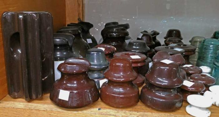 insulators - a fun collectible - can be found at Bahoukas