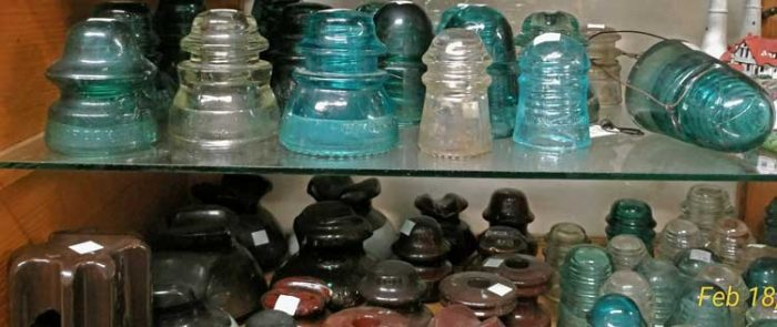 Insulators at Bahoukas, let us help you start your collection